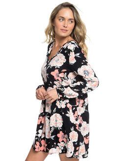 ANTHRACITE FLOWERS WOMENS CLOTHING ROXY DRESSES - ERJWD03343-KVJ6