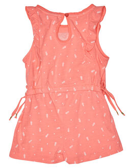 NEON CORAL PRINT KIDS TODDLER GIRLS EVES SISTER DRESSES + PLAYSUITS - 8021018NCRL