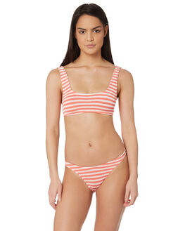 BLOOD ORANGE WHITE WOMENS SWIMWEAR BOND EYE BIKINI SETS - BOUND006BLDOR