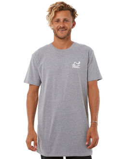 GREY MARLE MENS CLOTHING FEAT TEES - FTTTLOG01GRYM