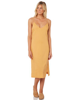 GOLDEN GLOW WOMENS CLOTHING NUDE LUCY DRESSES - NU23387GOLD