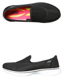 BLACK WHITE WOMENS FOOTWEAR SKECHERS SNEAKERS - 14170BKW