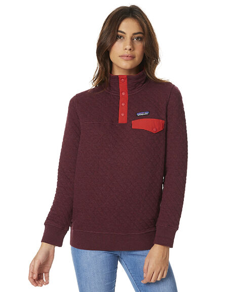 Patagonia Womens Cotton Quilt Snap T Pullover Violet Red