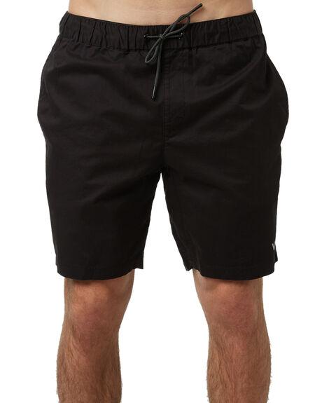 BLACK MENS CLOTHING RVCA SHORTS - R371315BLK