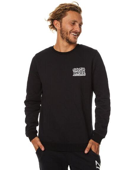 BLACK MENS CLOTHING SANTA CRUZ JUMPERS - SC-MFB7512BLK