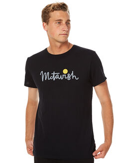 BLACK MENS CLOTHING MCTAVISH TEES - MS-16T-11-BLK