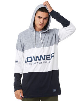GREY WHITE OUTLET MENS LOWER TEES - LO18Q3MLS07GRYW