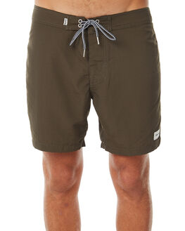CLASSIC OLIVE MENS CLOTHING RHYTHM BOARDSHORTS - APR18M-TR04OLI
