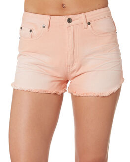 SHELL PINK WOMENS CLOTHING RUSTY SHORTS - WKL0658SHP