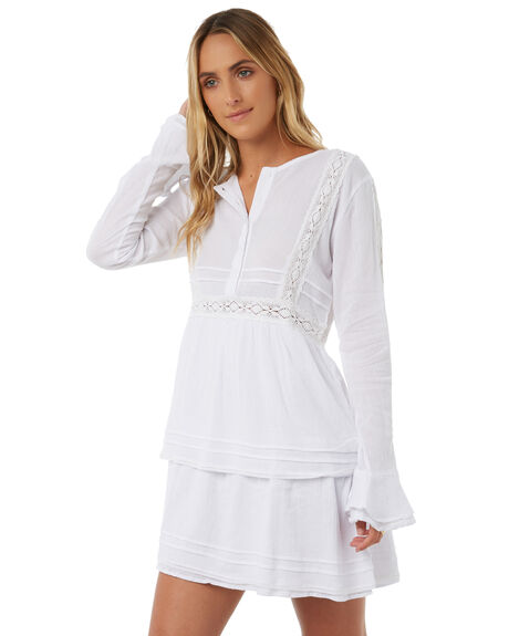 WHITE WOMENS CLOTHING LILYA DRESSES - CCD10-ERLAW18WHT