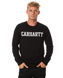 BLACK MENS CLOTHING CARHARTT JUMPERS - I021587BLK