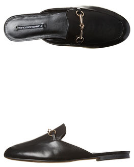 BLACK WOMENS FOOTWEAR WINDSOR SMITH FLATS - DREEBLK