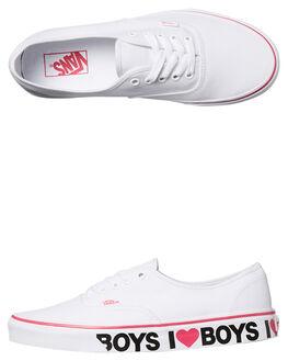 WHITE PINK WOMENS FOOTWEAR VANS SNEAKERS - SSVN-08EMMPSWHITEW