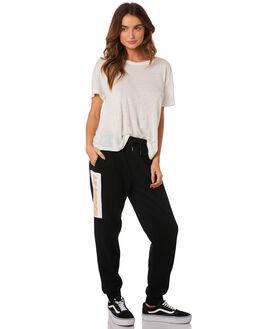 BLACK WHITE WOMENS CLOTHING HUFFER PANTS - WPA92S71BLK