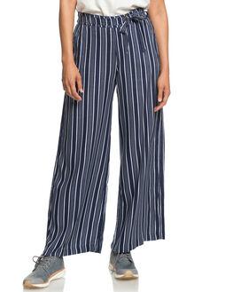 DRESS BLUES STRIPES WOMENS CLOTHING ROXY PANTS - ERJNP03188BTK3