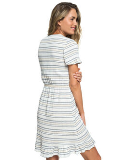 DRESS BLUE HORIZ WOMENS CLOTHING ROXY DRESSES - ERJWD03333-BTK8