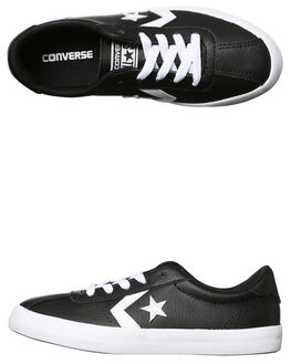 BLACK WHITE KIDS BOYS CONVERSE SNEAKERS - 658206BLKW