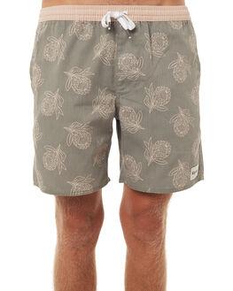OLIVE MENS CLOTHING RHYTHM SHORTS - DEC17M-SS04OLI