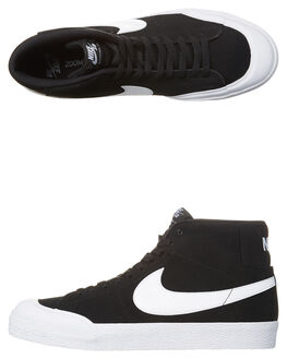 BLACK WHITE WOMENS FOOTWEAR NIKE HI TOPS - SS876872-019W