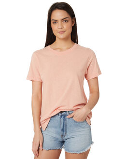 SHELL PINK WOMENS CLOTHING RUSTY TEES - TTL0933SHP