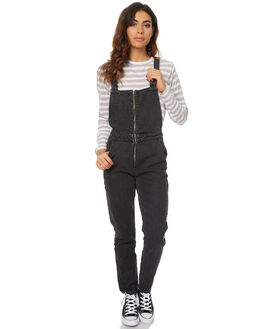 BLACK STEEL WOMENS CLOTHING ROLLAS PLAYSUITS + OVERALLS - 12258BLK
