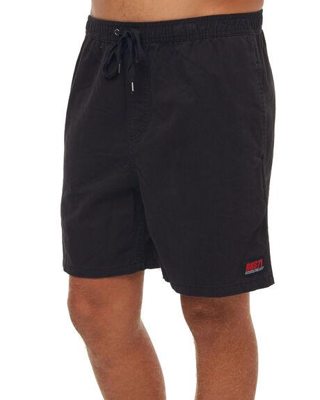 BLACK MENS CLOTHING RUSTY SHORTS - WKM0907BLK