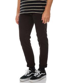 JET BLACK MENS CLOTHING ZIGGY PANTS - ZM-086JBLK