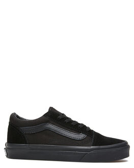 BLACK KIDS BOYS VANS SNEAKERS - VN-0W9TENRBLK