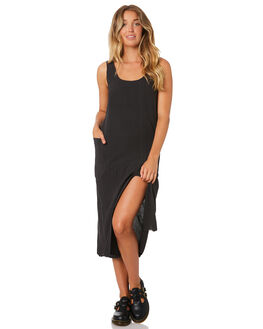 FADED BLACK WOMENS CLOTHING THRILLS DRESSES - WTA9-912FBFADB