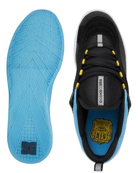 BLACK/BLACK/BLUE MENS FOOTWEAR DC SHOES SNEAKERS - ADYS100573-XKKB