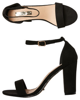BLACK SUEDE WOMENS FOOTWEAR BILLINI HEELS - H624BLK
