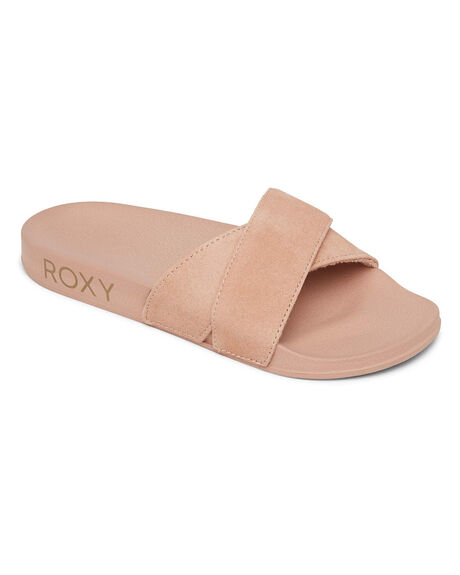 RUST WOMENS FOOTWEAR ROXY SLIDES - ARJL100884-RUS