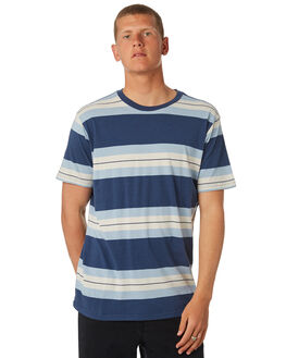 SEATTLE BLUE MENS CLOTHING RVCA TEES - R381041SBLU