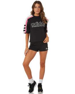 BLACK WOMENS CLOTHING ADIDAS TEES - DH4183095A