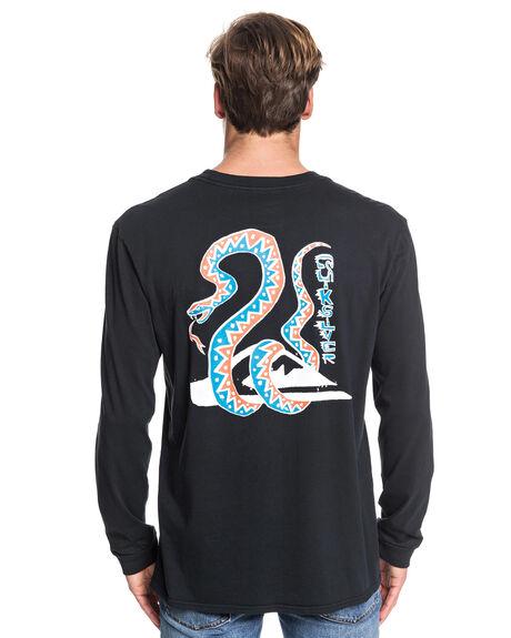 BLACK MENS CLOTHING QUIKSILVER TEES - EQYZT05443-KVJ0