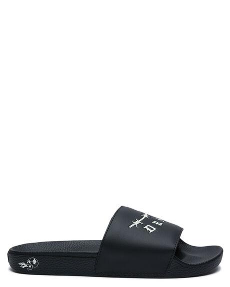 BLACK MENS FOOTWEAR VANS THONGS - VN0A45JE12MBLK