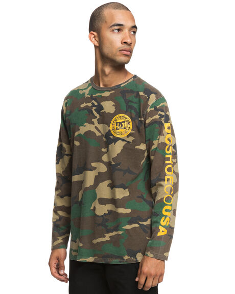 CAMO MENS CLOTHING DC SHOES TEES - UDYZT03534GRA0