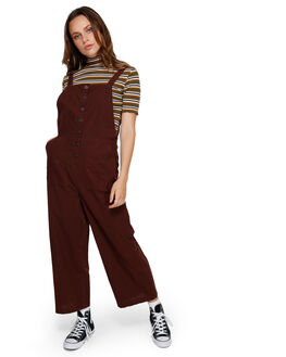 CHOCOLATE WOMENS CLOTHING RVCA PLAYSUITS + OVERALLS - RV-R291757-CHC