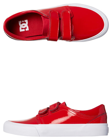 RED WOMENS FOOTWEAR DC SHOES SNEAKERS - ADJS300202RED
