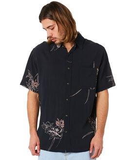 BLACK MENS CLOTHING RUSTY SHIRTS - WSM0838BLK