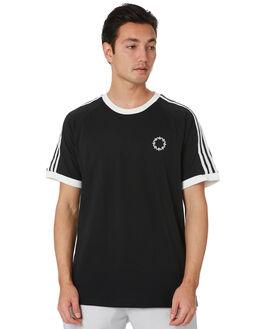 BLACK WHITE MENS CLOTHING ADIDAS TEES - FU1535BLKWT
