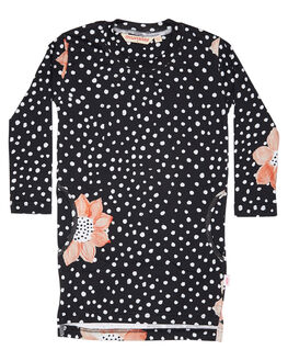 BLACK FLORAL KIDS TODDLER GIRLS MUNSTER KIDS DRESSES - MM172DR16BKFLR