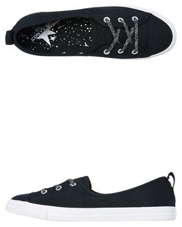 BLACK WOMENS FOOTWEAR CONVERSE SNEAKERS - 564987CBLK