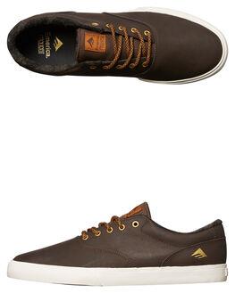 BROWN MENS FOOTWEAR EMERICA SKATE SHOES - 6102000110-200