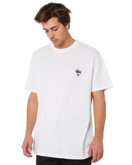 WHITE MENS CLOTHING STUSSY TEES - ST092011WHITE
