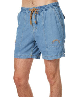 BLUE DENIM MENS CLOTHING THE CRITICAL SLIDE SOCIETY SHORTS - WSW1702BLUD