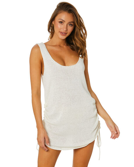 WHITE WOMENS CLOTHING SNDYS DRESSES - SFD529WHT