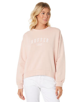 DUSKY PINK WOMENS CLOTHING HUFFER JUMPERS - WCR91S47-342DPNK