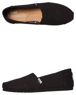 BLACK BLACK MENS FOOTWEAR TOMS SLIP ONS - 10002931BLK
