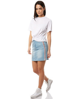WASHED BLUE WOMENS CLOTHING THE FIFTH LABEL SKIRTS - 40180247WSHBL